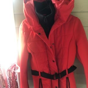 Red Belted Micheal Kors Jacket